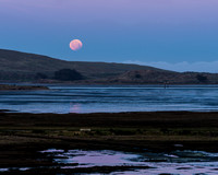 Bodega Bay Moonset at Sunrise